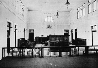 Gympie Court House - Gympie Courthouse, interior view, 1902