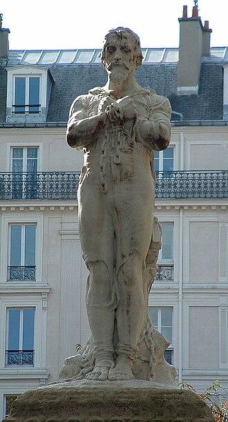 Jean Baffier - Image: Statue Michel Servet Paris