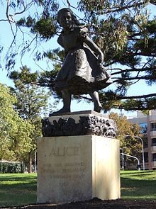"""""""Alice"""" statue in Rymill Park, Adelaide"""