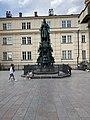 Statue of Charles IV at Křižovnické náměstí (July 2019) - 1.jpg