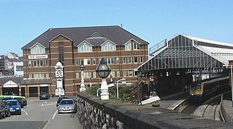 Holyhead railway station - Stena House and Platform 2