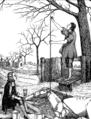 Stephen Hales measuring blood pressure in a horse (1705).png