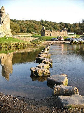 Ewenny River - Stepping stones across the River Ewenny at Ogmore by Sea