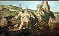 Stile di joachim patinir, san girolamo in au paesaggio, 1525-50 ca. 03 montagne abitate.jpg