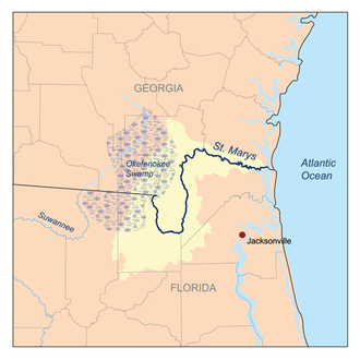 St. Marys River (Florida–Georgia) - St. Marys River watershed
