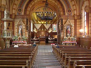 St. Eric's Cathedral, Stockholm - Image: Stockholms katolska domkyrka interior