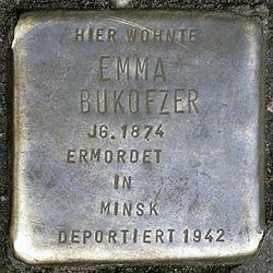 Photo of Emma Bukofzer brass plaque