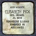 Stolperstein.Hansaviertel.Claudiusstraße 5.Elisabeth Pick.6926.jpg