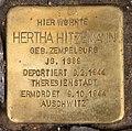 Stolperstein Brauhofstr 6 (Charl) Hertha Hitzemann.jpg