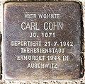 Stolperstein Dahlmannstr 1 (Charl) Carl Cohn.jpg