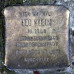 Photo of Leo Klein brass plaque