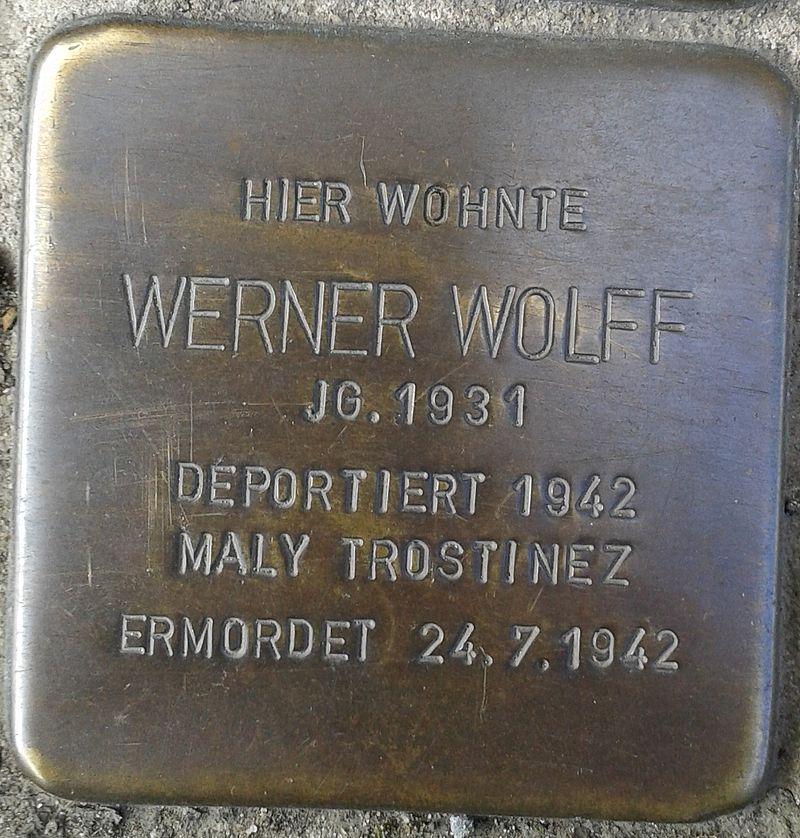 Stolperstein Hennef Bonner Straße 69 Werner Wolff