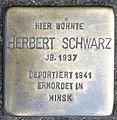 Stolperstein Herbert Schwarz, Düsseldorf, Am Wehrhahn 5 ( jetzt Am Wehrhahn 1).jpg