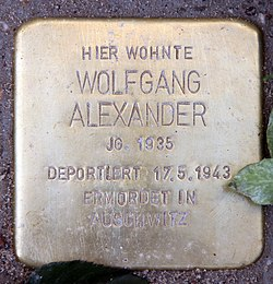 Photo of Wolfgang Alexander brass plaque