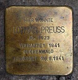 Stolperstein lützowstr 15 (tierg) lothar preuss