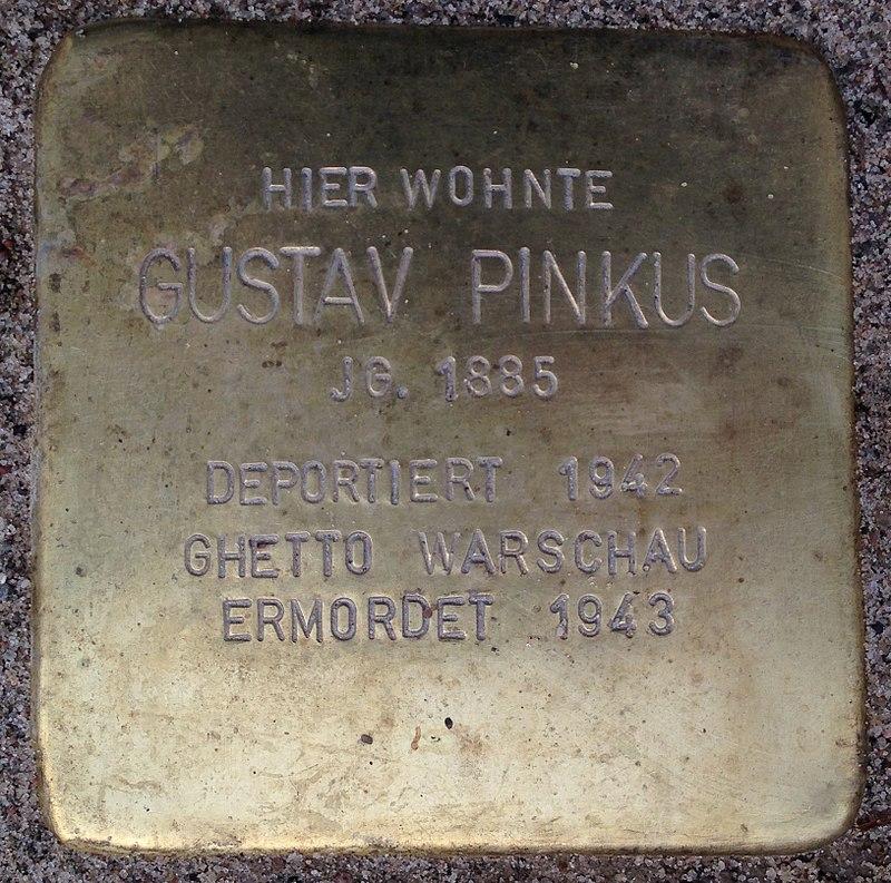 Stolperstein Porta Westfalica Hauptstraße 12 Gustav Pinkus