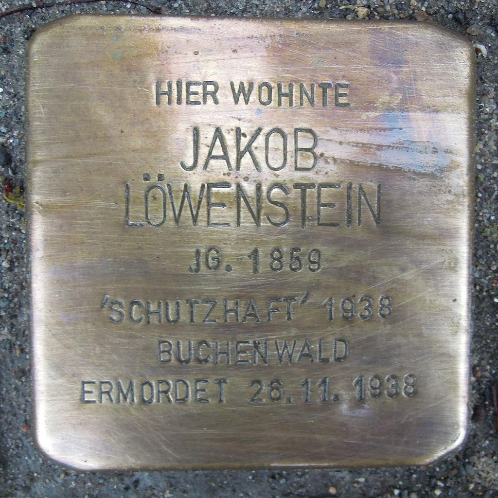 Stolperstein Rehburg-Loccum Mühlentorstraße 26 Jakob Löwenstein