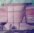 Stone age prehistoric flint mining illustration.png