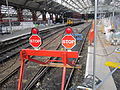 Stop signs during Platform 5 renovation at Liverpool Lime Street (2).JPG