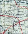 Stouffer's Railroad Map of Kansas 1915-1918 Marion County.png