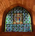 Strasbourg cathedral crypt angel stained glass window situation.jpg