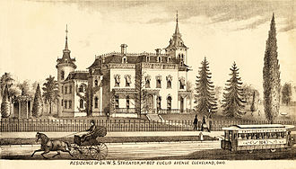 """Worthy S. Streator - Worthy Streator's mansion was located on """"Millionaires' Row."""