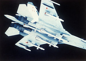 Sukhoi Su-27 - Su-27 carrying R-27 missiles