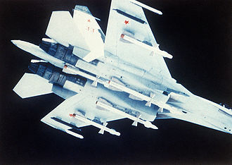 Sukhoi Su-27 - Su-27 carrying Vympel R-27 missiles