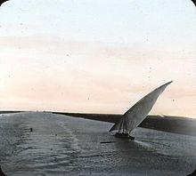 Suez Canal%2C Egypt. Lantern Slide