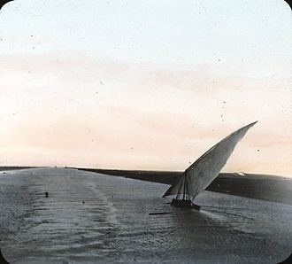 Suez Canal - Suez Canal, Egypt. early 1900s. Goodyear Archival Collection. Brooklyn Museum