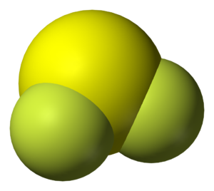 Sulfur difluoride - Image: Sulfur difluoride 3D vd W