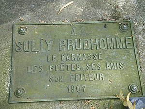 Sully Prudhomme - Grave of Sully Prudhomme at Père-Lachaise in Paris.
