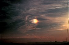 The Oroks traditionally interpret the presence of sundogs such as this to be evidence that three distinct suns used to reside in the sky. The remaining present-day sun is located outside of the picture to the right.
