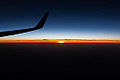Sunset from plane between France and Morocco - Photo Image Photography Ryanair flight (9126379836).jpg