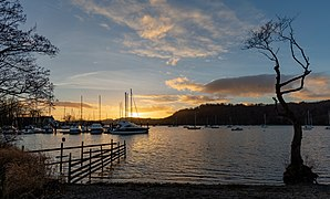 Sunset in Bowness Harbour, Bowness on Windermere, England.jpg