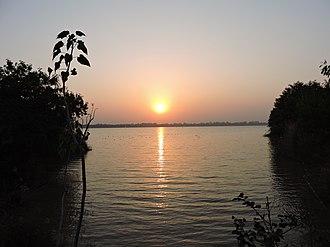 Sukhna Lake - Sunset view at Sukhna Lake, Chandigarh, India
