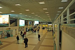 Surgut International Airport - Inside the terminal of Surgut Airport.