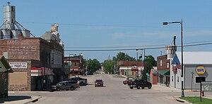 Sutton, Nebraska - Downtown Sutton: Saunders Avenue, looking north