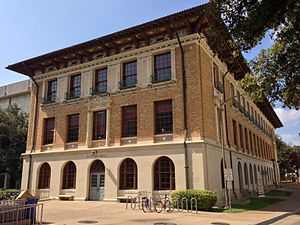 University of Texas at Austin School of Architecture - Sutton Hall from Inner Campus Drive