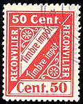 Switzerland Reconvilier 1904 revenue 1 50c - 1.jpg