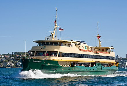 The Sydney Ferries 'Collaroy' servicing the Circular Quay-Manly route in Sydney, Australia.