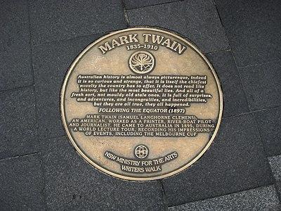 Sydney writers walk mark twain