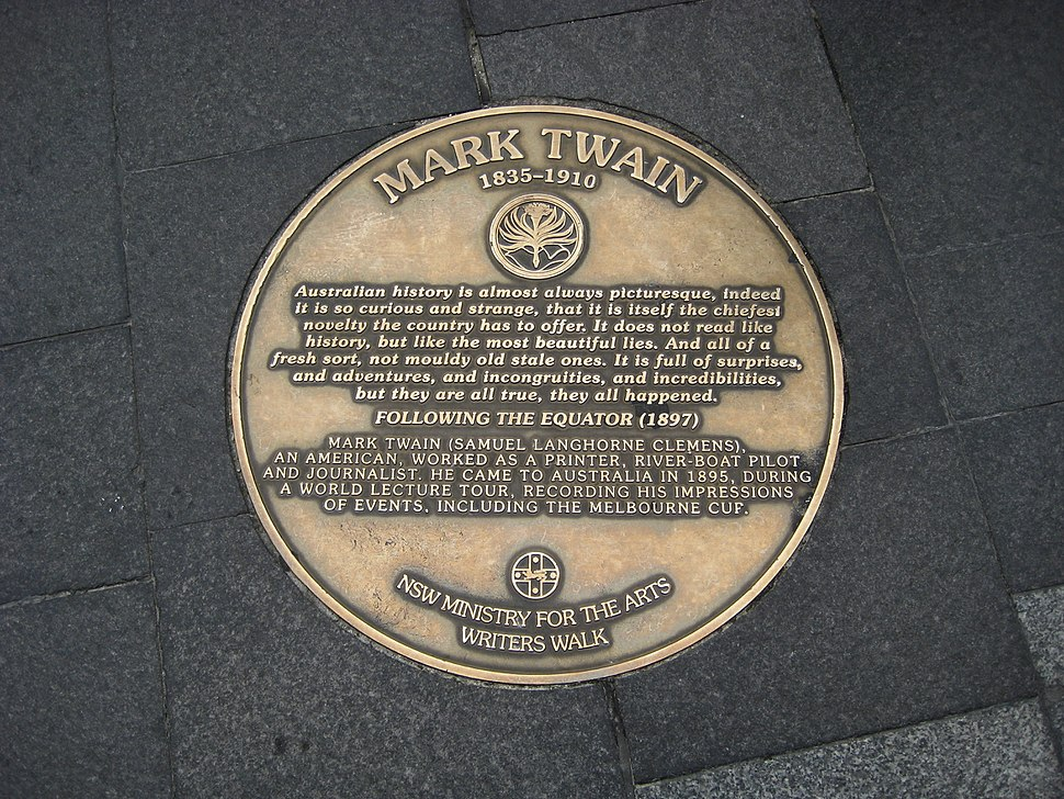 Sydney writers walk mark twain