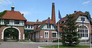 Kadyny Village in Warmian-Masurian Voivodeship, Poland