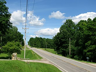 Tennessee State Route 108 - SR 108 in Gruetli-Laager