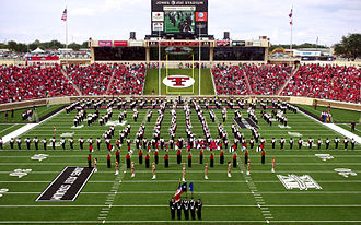 Texas Tech Red Raiders football - The Goin' Band from Raiderland performing in 2008