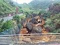 TW 台灣 Taiwan 新北市 New Taipei 瑞芳區 Ruifang District 洞頂路 Road 黃金瀑布 Golden Waterfall August 2019 SSG 05.jpg