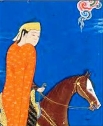 Tahmina - Tahmineh in the Shahnameh of Shah Tahmasp