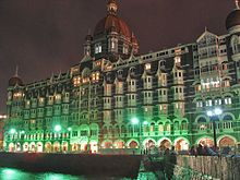 A Night View Of The Taj Mahal Palace Hotel