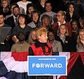 Tammy Baldwin fires up the crowd before Michelle Obama speech. (8104106410).jpg